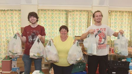 Unite Community Norfolk providing school lunches to people who need them at the Phoenix Centre. Pic: