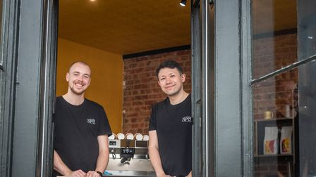 James Cowan and David Rickenback at the new Kofra in NR3, where they will be serving from a purpose-