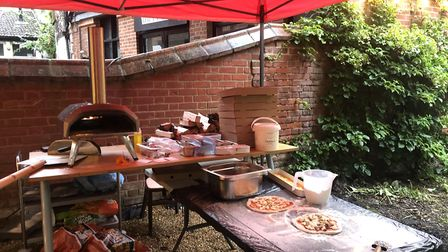 All the pizzas are cooked in a wood-fired oven and ingredients from the garden are used where possib