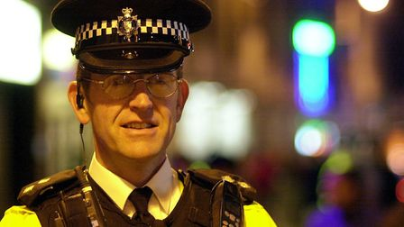 Insp Gavin Tempest overseeing Operation Enterprise in Prince of Wales Road in Norwich in 2003. PIC: