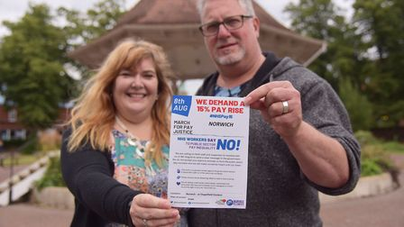 NHS workers Catherine and Simon Taylor have organised a march in Norwich at the weekend for NHS work