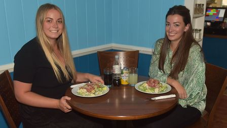 Logan's restaurant Norwich taking part in the Eat Out To Help Out Campaign. Reporters Jessica Long &