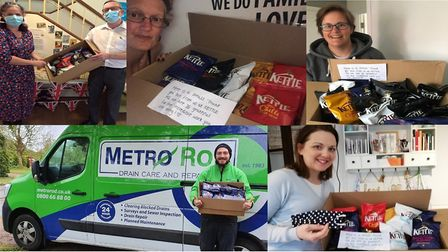 Unsung heroes nominated to receive packets of crisps donated by Kettle Chios. Pic: Kettle