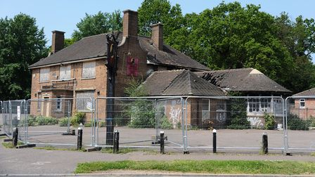 Flashback to 2012 and the derelict Shoemaker pub before it was demoloshed. Picture: Denise Bradley