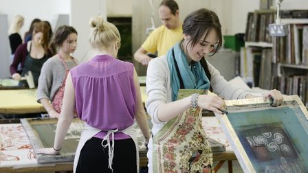 Students in practical workshop at Norwich University of the Arts. Picture: Owen Richards