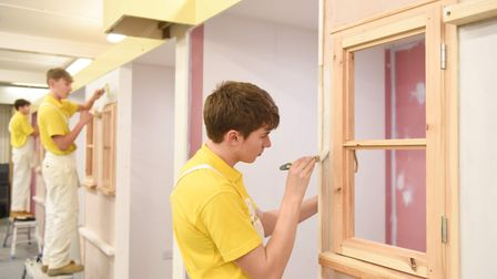 City College Norwich painting and decorating course students. Picture: David Kirkham