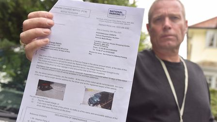 Steve Pyne is disputing a parking ticket issued to him during lockdown. He pulled over to check on a