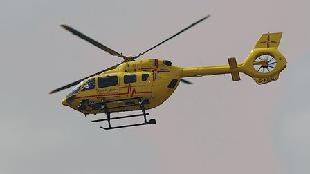 The air ambulance has been called to a serious crash on the A11. Picture: Chris Bishop