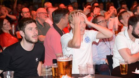 England fans watching a World Cup game at OPEN in 2018. Picture: ANTONY KELLY