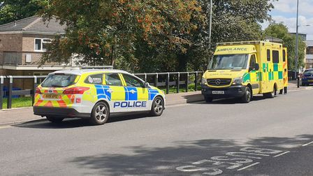 Police and ambulance staff were called to a medical incident on Rouen Road in Norwich, Picture: Vict