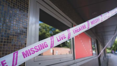 """The tape has the message """"missing live theatre"""" and is part of a national campaign Picture: Max Hilt"""