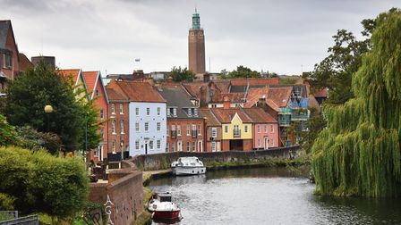 Quayside in Norwich where a woman had to be rescued from the river. Picture: Antony Kelly