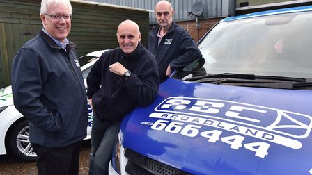 ABC Taxis has been hard hit by the coronavirus pandemic. From left, co-owners Simon Callender, Paul