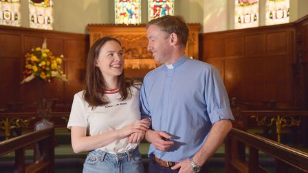 Rev'd Dr Richard James with his daughter Rebecca who is due to get married at The Holy Trinity churc