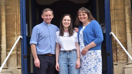 Rev'd Dr Richard James and his wife Carole with their daughter Rebecca who is due to get married at