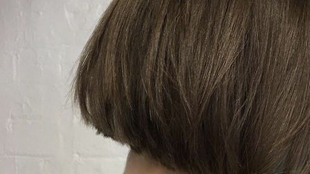 One length classic bob with movement using texturing serum. Pic: Alex at Flint Hair, Upper Goat Lane