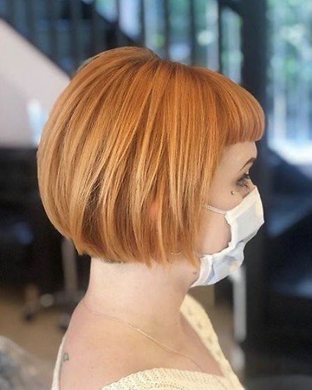 Blunt bases reinstated after nearly four months growth. Pic: Deb Dominic at Hairsmiths