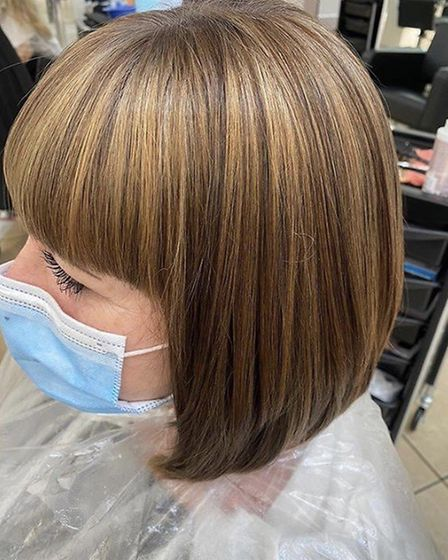 After: Kick starting the week with a colour correction transformation. Pic: The Gallery Haircutters,