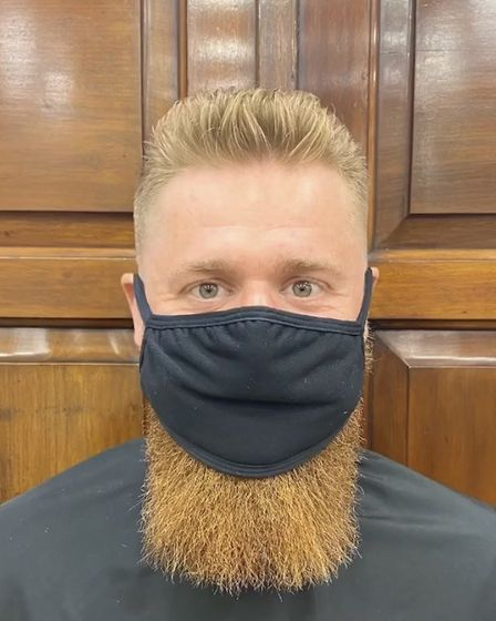 After: Post lockdown hair and beard restyle finished with defining creme. Pic: Swagger & Jacks