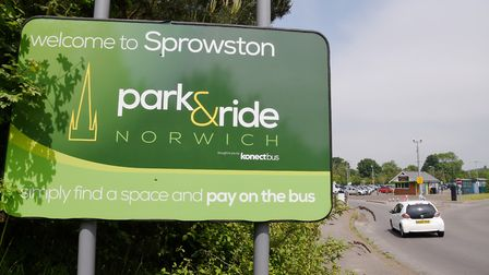 Sprowston Park and Ride near Norwich.