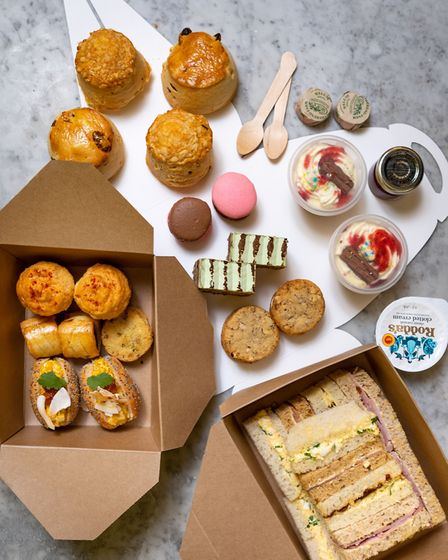 The ice cream afternoon tea takes inspiration from summer flavours Picture: www.assemblyhousenorwich