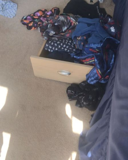 Burglars ransacked Gary and Andrea Fisks' home in Costessey. Pictures: BRITTANY WOODMAN