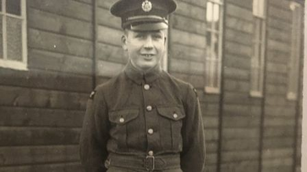 Rouse Voisey, from Norwich, pictured as a 17-year-old RAF airmam after joining in 1937. Picture: Sen