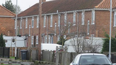 GV of houses on Stevenson Road, Norwich. Photo: Andy Darnell.