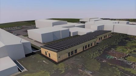 City of Norwich School new sixth form block would include four classrooms and a library. Picture: Or