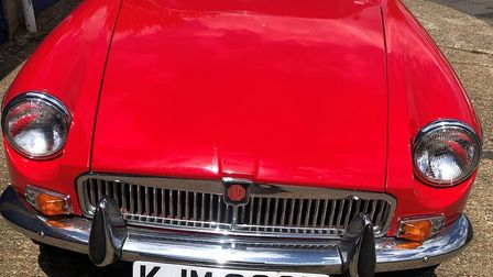 The classic car which was stolen from a garage in the Bacon Road area of Norwich. Picture: Norfolk P
