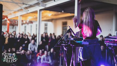 Laura Misch performing at Wild Paths 2019 Festival in Norwich. Picture: Andrew Gooding/@gooding.phot