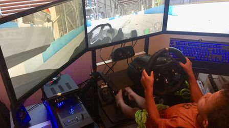 Six year old Tao-Rae Samuda Stone, from Norwich, has shown promise on the race track. Picture: Kris