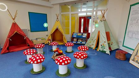 Teepees and toadstools feature in Tuckswood Academy interactive virtual reality tour for new pupils.