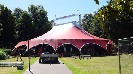 The big tent ready for Interlude at Chapelfield Gardens. Picture: DENISE BRADLEY