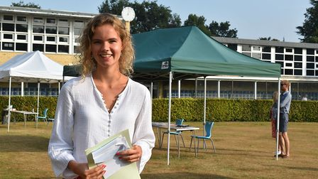 Anna Wasse gained four A*s at Norwich High School for Girls. Picture: NHSG