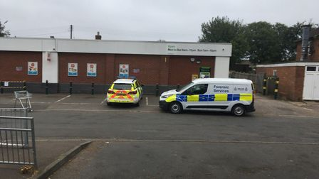 Police in attendance at a break in at Co-op in New Costessey Picture: Dan Grimmer