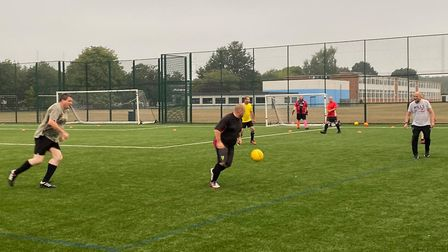 The first session of Man v Fat football returns to Norwich. Picture: Dan Church