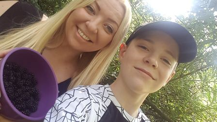 Stacy Bradley and her son Zach are trying to challenge themselves to spend £0 throughout August. Pic