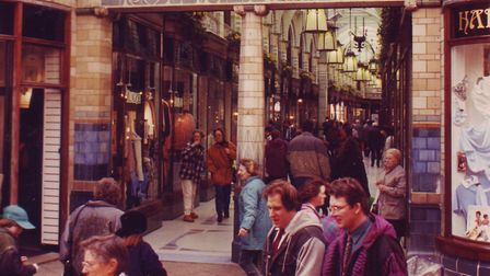 Royal Arcade in Norwich, dated 21st February 1995. Photo: Archant Library