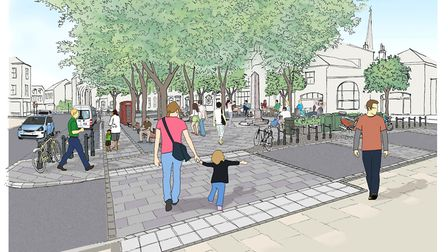 A new artist's impression of what the revamp of Tombland will look like. Picture: Transport for Norw