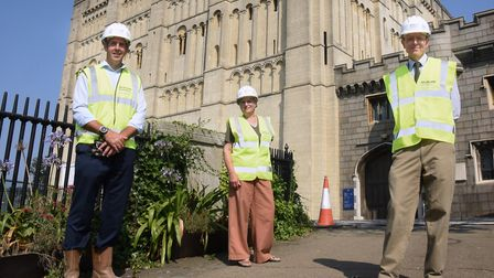 Morgan Sindall Construction, Norfolk County Council, and Norfolk Museums Service get together as con
