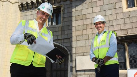 Morgan Sindall's Matt Bidewell, left, senior project manager and Peter Whitmore, regional managing d