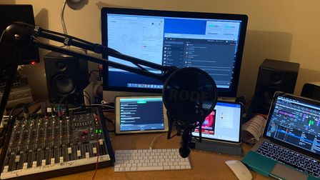 The new radio station set up by the Brickmakers. Photo: Charley South