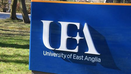 The UEA sign, Earlham Road entrance. Picture: Denise Bradley