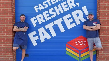 The Fat Pizza launches in Norwich. Franchisees Charlie Nethercott and Ollie George Pictures: BRITTA
