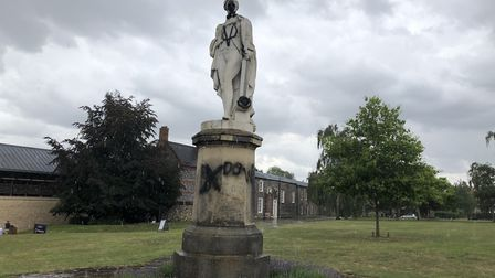 It cost nearly £2,400 to clean and restore the vandalised Nelson statue in the grounds of Norwich Ca