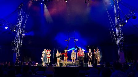 Lost in Translation's Circus Lates show in the big top tent at Chapelfield Gardens. Picture: Daniell