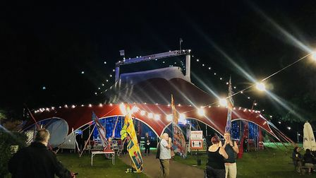 The big top tent at Chapelfield Gardens. Picture: Danielle Booden