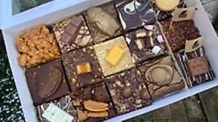 You can create assorted boxes of her brownies, blondies and baked goods Photo: Ella Marsham
