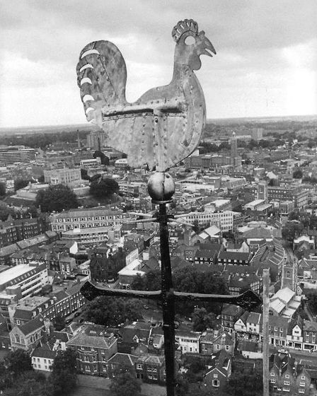 Cathedral Cockerel, August 1986. Picture: Archant Library